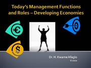 Today's Management Functions and Roles