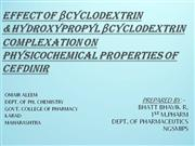 efect of beta cyclo dextrin on physicochemical properties of drug
