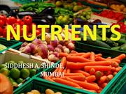 PRESENTATION ON NUTRIENTS