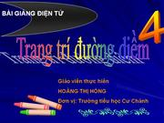 MT Ve trang tri duong diem