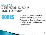 Entrepreneurship -- Section 1.2 Is Entrepreneurship Right For You?