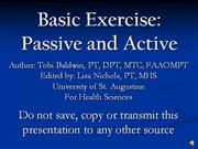 Basic Exercise VO