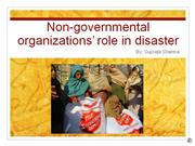 ngos role in disaster
