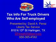 tax info for truck drivers