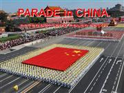 parade in china.