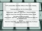 p2p communities and their effect on the music industry