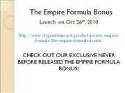 the empire formula bonus