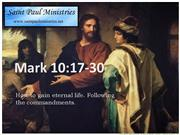 Bible Study - Mk. 10:17-31 The Rich Man