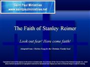 Bible Study - Mk. 10:52 – The Faith of Stanley Reimer