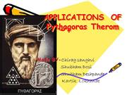 PHYTAGORAS AND APPLICATIONS