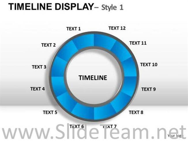 circular timeline chart powerpoint slides powerpoint diagram