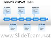 CORPORATE TIMELINE DISPLAY 6 POWERPOINT SLIDES