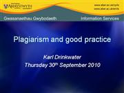 plagiarism and good practice