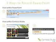 camtasia getting started slide show