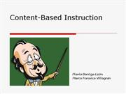 content based instructyion