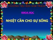 nhiet can cho su song