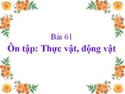 On tap dong thuc vat