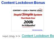 content lockdown bonus - exclusive $997 content lockdown bonus