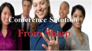 sharp pc less touch panel and digital signage presentation