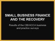 sme finance and the recovery