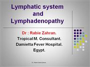 Lymphatic system and Lymphadenopathy