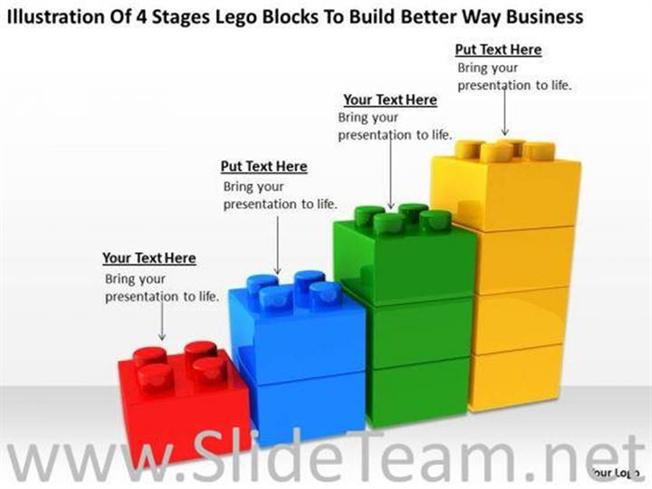 4 stages lego blocks business powerpoint slides powerpoint diagram