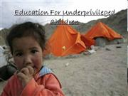 education for underprivileged