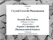 Crystal Growth Phenomenon PPT