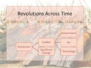 Revolutions Across Time