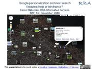 google personalization and new search features: help or hindrance?