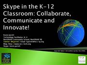 Skype in the K-12 Classroom