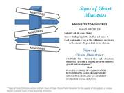 short intro to signs of christ ministries