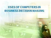 use of computers in decision making presentation