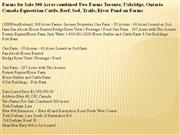 farms for sale 300 acres combined two farms toronto, uxbridge, ontario