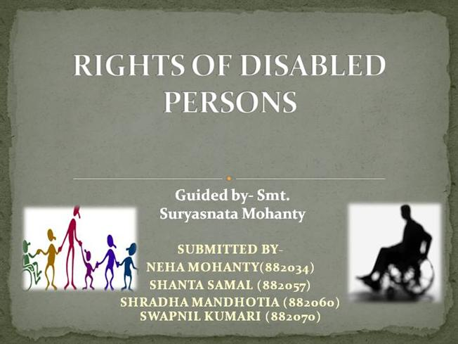 Disabled slideshare pdf