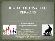 rights of disabled persons
