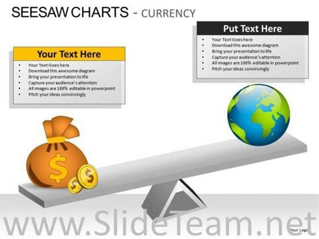 Comparison Seesaw Charts Currency Powerpoint Slides Powerpoint Diagram