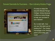 Seven Secrets Pt.2 Home Page