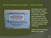 Seven Secrets Pt.3Library Cards