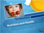 powerpoint presentation nutrition and health
