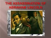 1-The Assassination of Abraham Lincoln