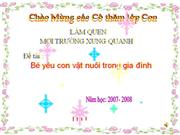 Con vat nuoi trong gia dinh