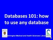 Databases 101: How to use any database