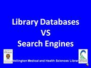 Library databases VS search engines