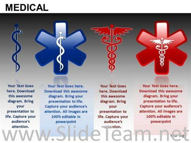 Caduceus Rod Of Asclepius Ppt Slides Powerpoint Diagram