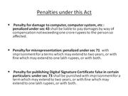 Penalties under IT Act 2000
