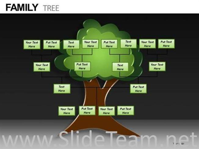 editable family tree powerpoint templates-powerpoint diagram, Modern powerpoint