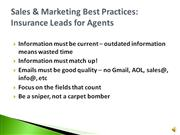 Sales & Marketing Best Practices: Insurance Leads for Agents