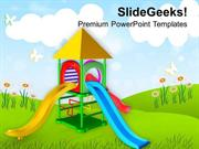 PLAY GROUND FOR KIDS PLAYING POWERPOINT TEMPLATE