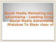 Social Media Marketing and advertising - Leading three Social Media Ad